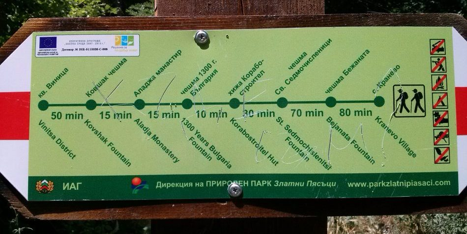 Аладжа манастир туристически маршрут